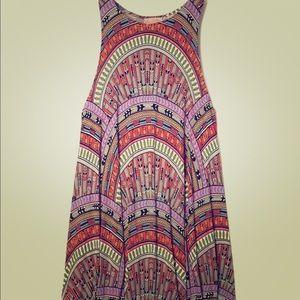Mara Hoffman Red Rainbow Modal Swing Mini Dress S